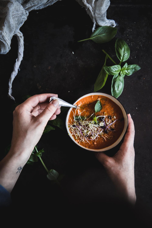 Soupe froide aux tomates rôties - Ophelie Lauret - ophelie's Kitchen Book-19