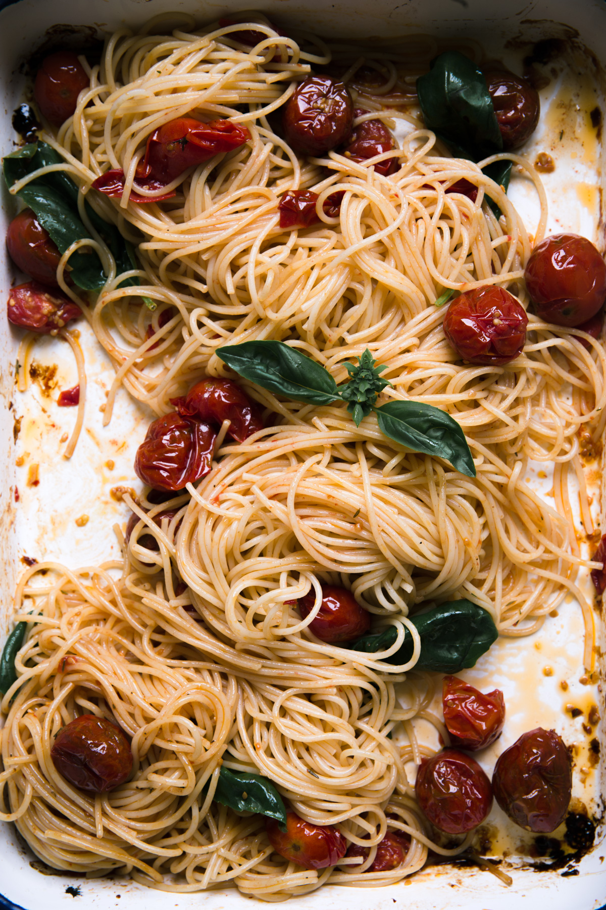 spaghettis aux tomates roties - Ophelie's Kitchen Book - Ophelie Lauret