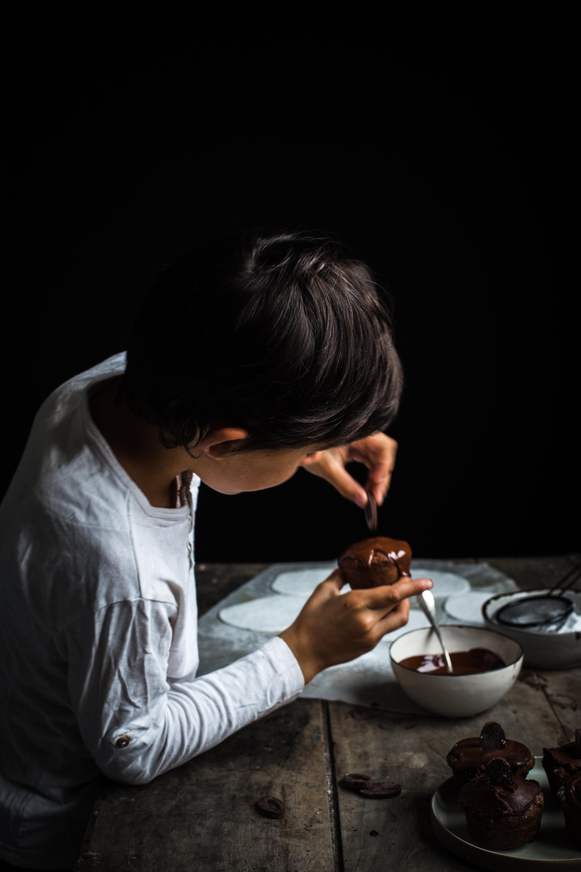 Muffins fantôme tout chocolat - Ophelie Lauret - Ophelie's Kitchen Book-11