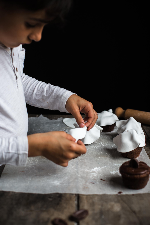 Muffins fantôme tout chocolat - Ophelie Lauret - Ophelie's Kitchen Book-13