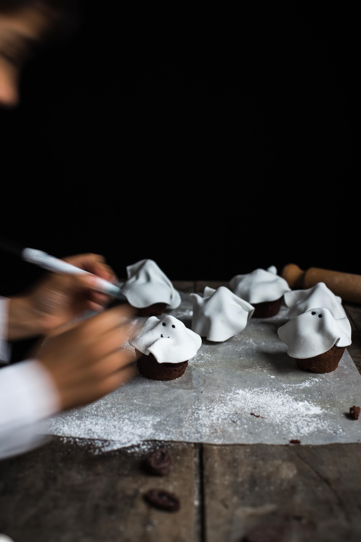 Muffins fantôme tout chocolat - Ophelie Lauret - Ophelie's Kitchen Book-14