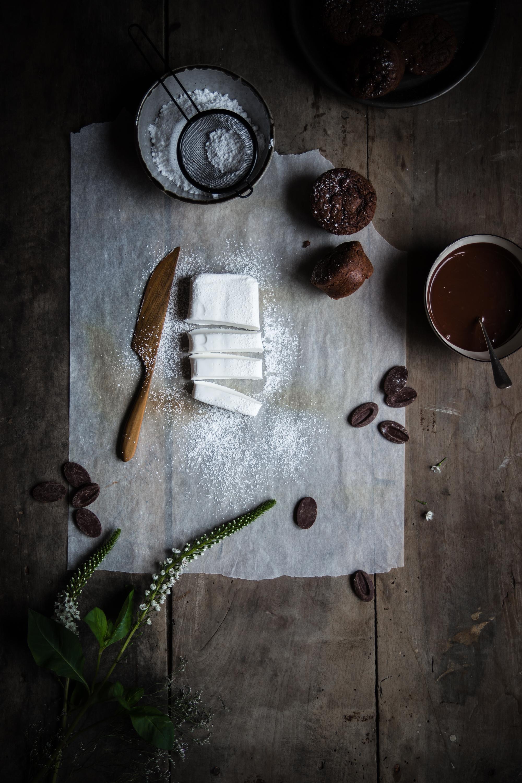 Muffins fantôme tout chocolat - Ophelie Lauret - Ophelie's Kitchen Book-3