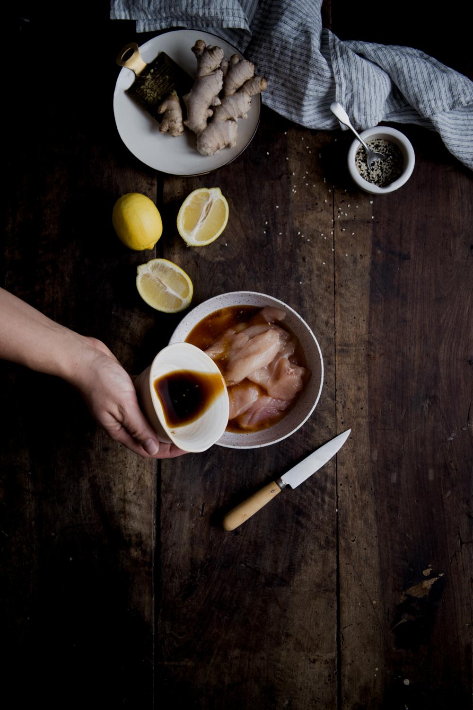 Poulet sauté au gingembre & sésame - Ophelie's Kitchen Book - Ophelie Lauret-6