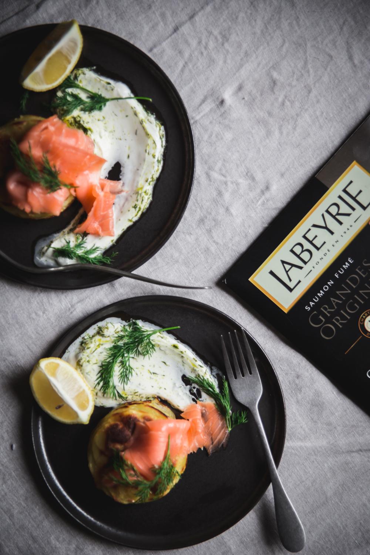 Mille-feuilles de pommes de terre au four saumon et sauce yaourt aneth - Ophelie Lauret - Ophelie's Kitchen Book-2
