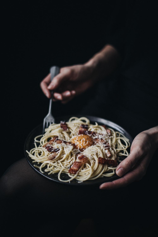 Spaghetti à la sauce Carbonara - Ophelie's Kitchen Book - Ophelie Lauret-2