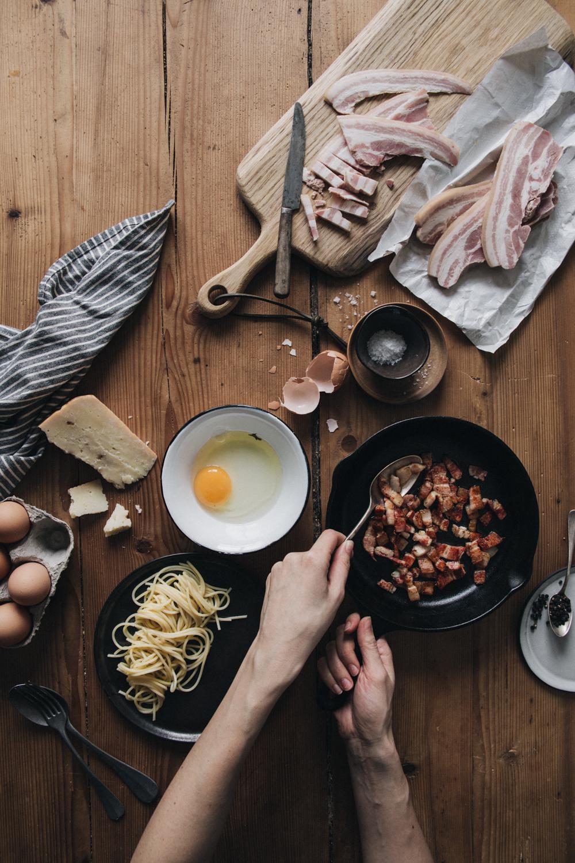 Spaghetti à la sauce Carbonara - Ophelie's Kitchen Book - Ophelie Lauret