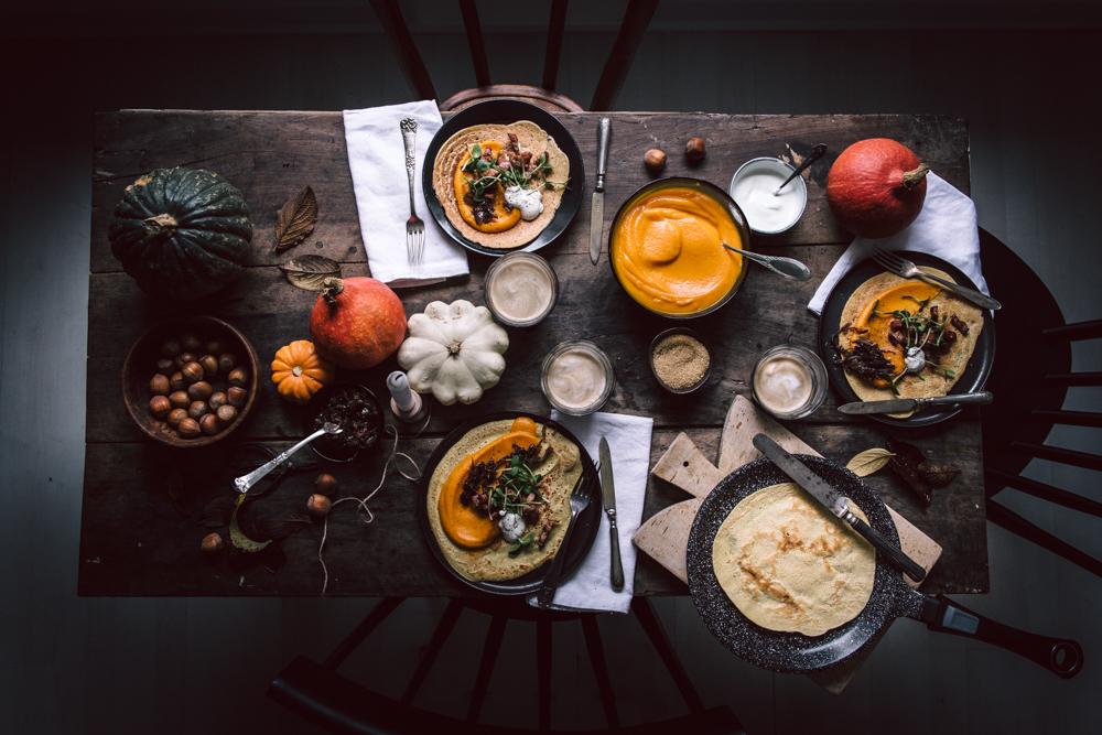 Dosas d'automne (crêpe à la farine de pois chiches) pour un brunch chaleureux - Ophelie's Kitchen Book_