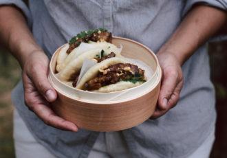 Gua Bao au porc caramélisé