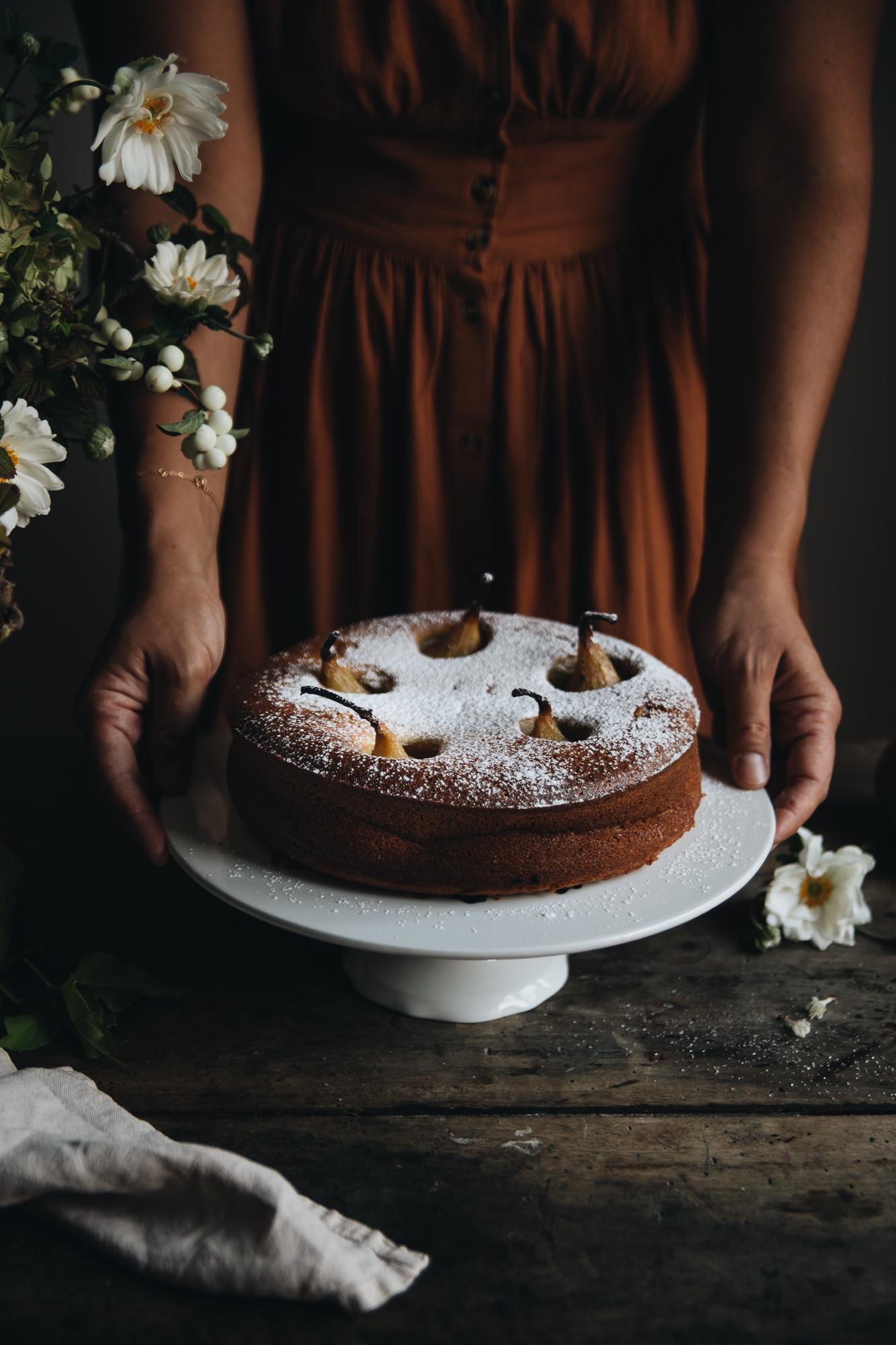 Gateau aux poires à la vanille - Ophelie's Kitchen Book